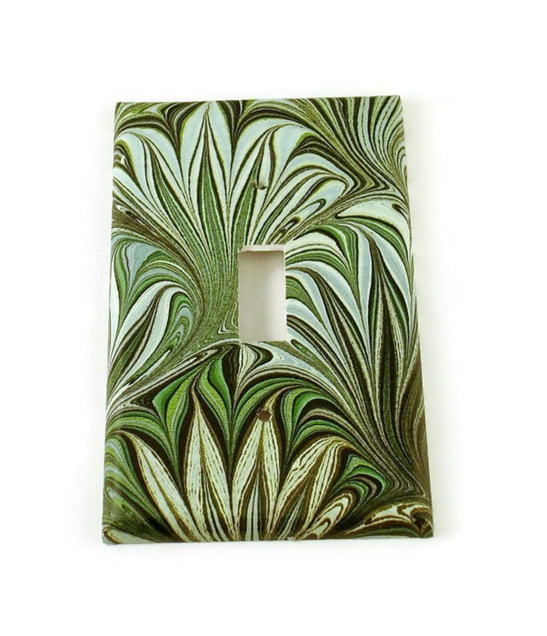 Light Switch Plate Wall Decor Light Switch Cover Multiple Styles Green Swirl 234s