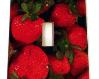 Kitchen Strawberry Light Switch Cover Switchplate  Outlet Plate  in  Very Berry  (249)