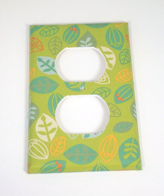Outlet Plate Light Switch Cover Switchplate In Green Leaves Etsy
