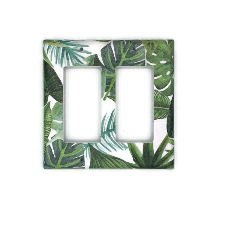 121DR Double Rocker Light Switch Cover Switchplate  Wall Decor Light Switch Plate in Plant Life