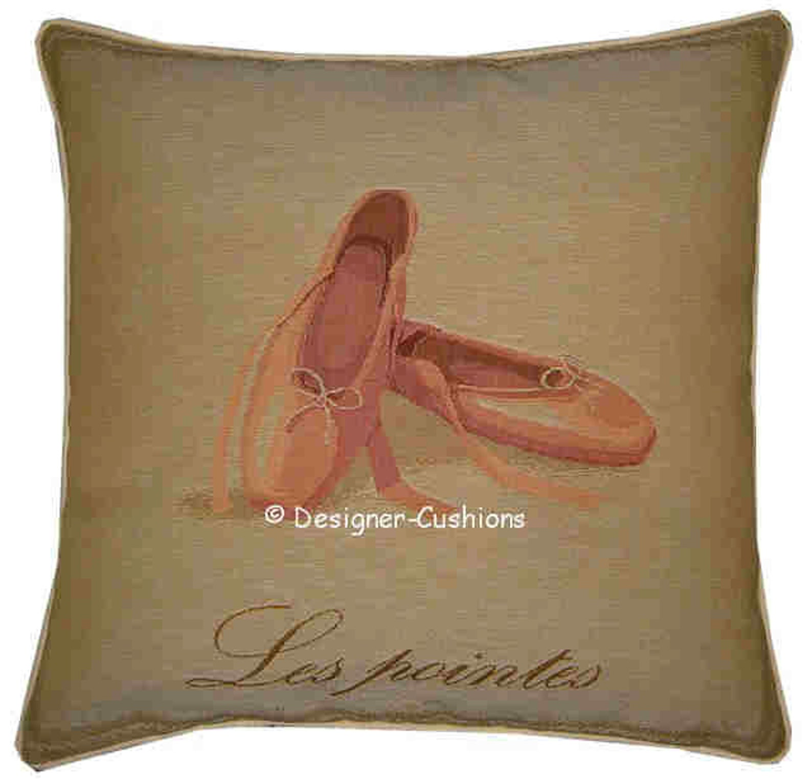 ballet shoes tapestry cushion sham