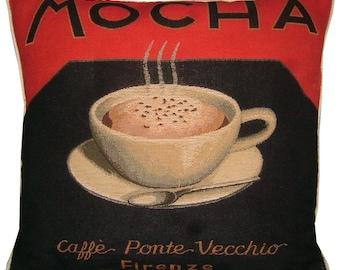 Mocha Coffee Tapestry Cushion Sham
