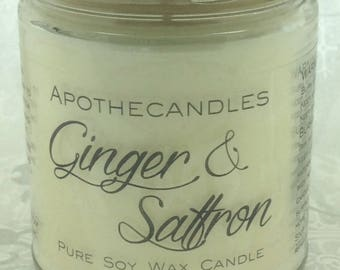 Ginger & Saffron Pure Soy Wax Candle
