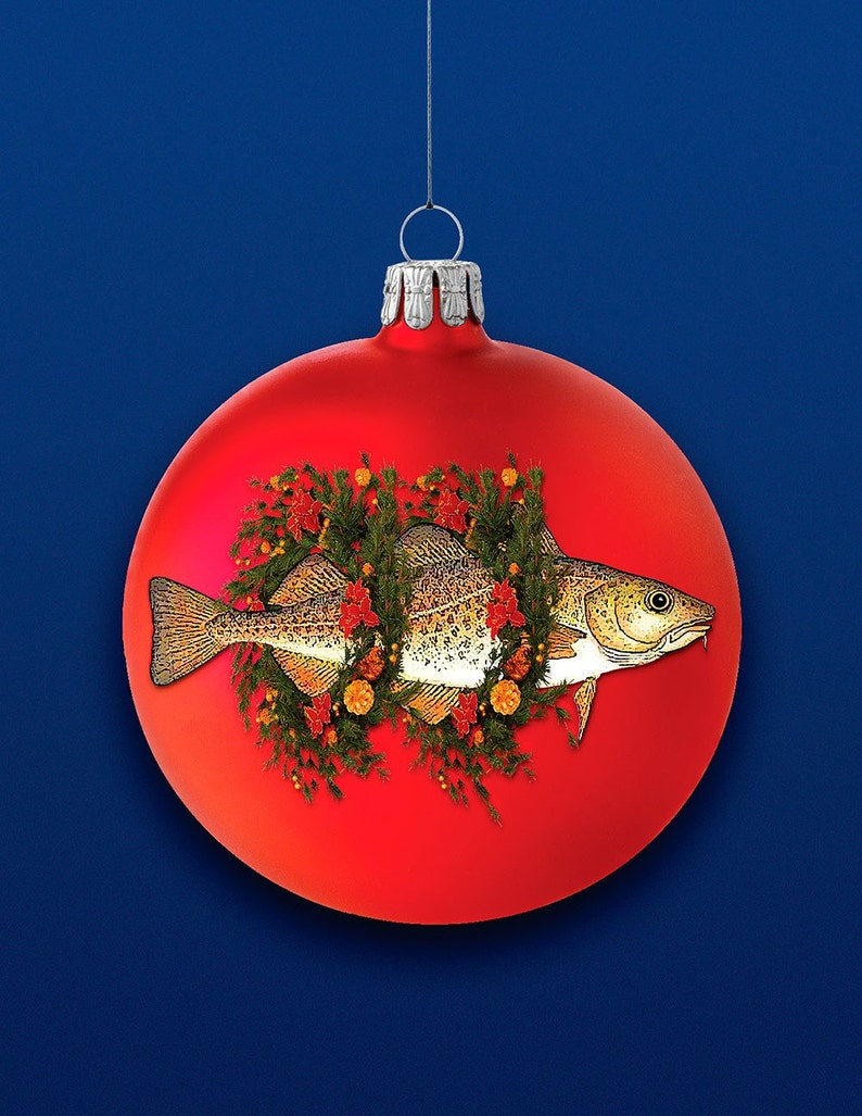 Christmas Ornament Cod box of ten greeting cods image 0