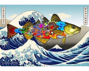 Tattoo Cod (frameable art cod)