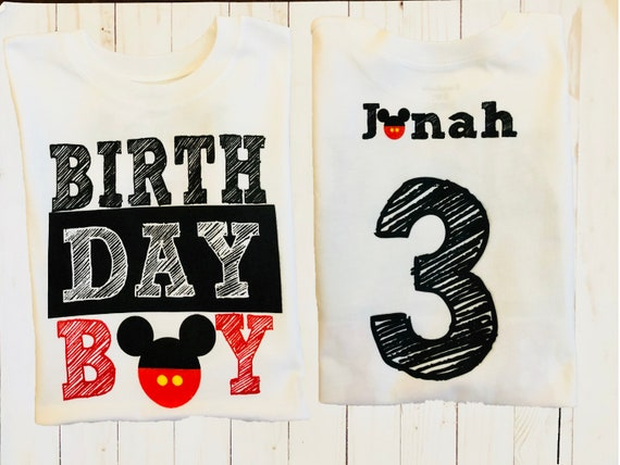 T Shirt Roblox Collar De Cruz Mickey Birthday Boy T Shirt With Name Jersey On Back Mickey Etsy