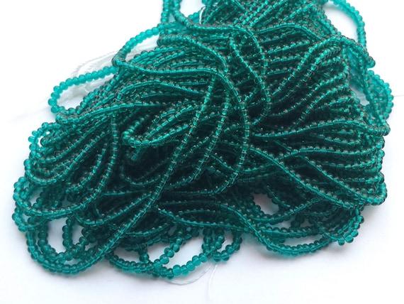 5 Gm, Hank, 10 Hanks 9//0 Silver Lined Emerald 3-Cut Czech Seed Bead #CSP052