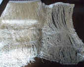 1 Yard VINTAGE Very Long 22inch Golden Ecru Rayon Tassel Fringe for Sewing Supplies Trim Piano Scarf Shawl Costume Clothing