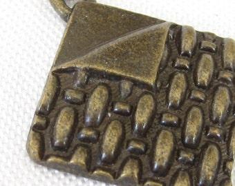 VINTAGE Metal Zipper Pull Charm