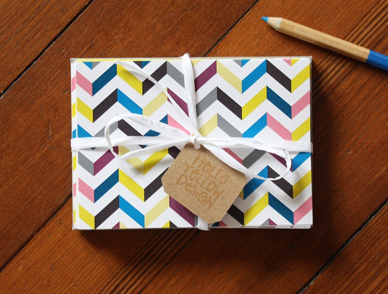 Chevron Blank Note Card 10-Pack