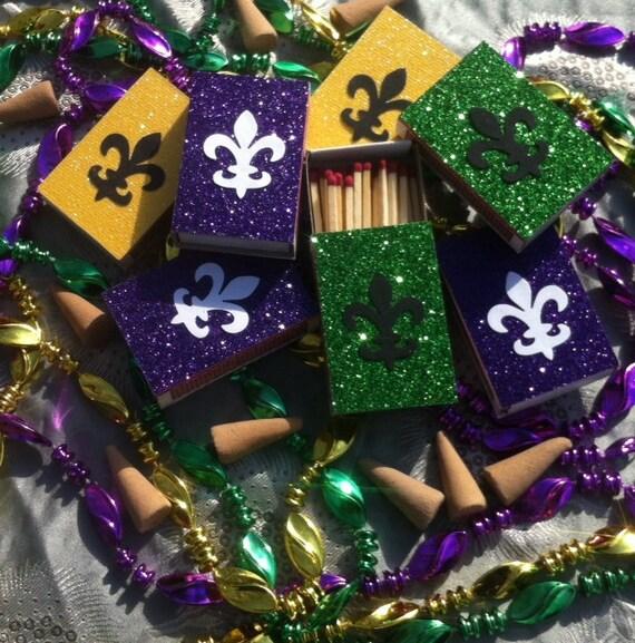 8 Mardis Gras New Orleans Themed Matchbox Wedding Favors Etsy