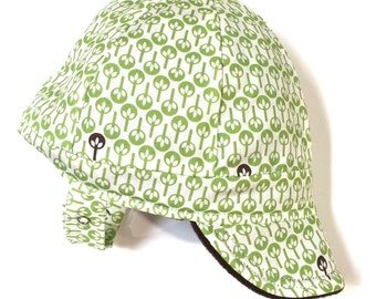 UB2 ACADIA a fabulous forest adorns this beautiful baby boy winter warm sun  hat cap w  Polartec fleece for walks in your winter wonderland d95d8491e4fb