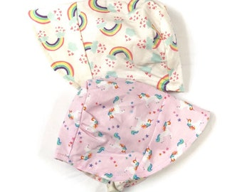 UB2 BELIEVE unicorn rainbows rainbow star magical magic clouds pink baby  shower summer infant baby toddler sun hat bd76b23611fd