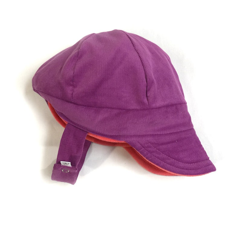 UB2 JUMPING JACKIE a bright purple   coral corduroy skicap  a5bb026fa655