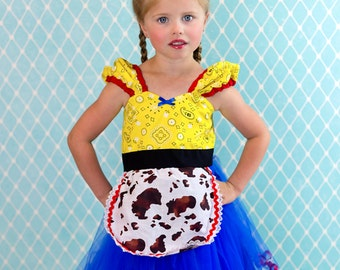 Jessie Toy Story Costume, Jessie dress, Cowgirl dress, Jessie costume, Halloween costume, cowgirl birthday outfit, Toy Story Jessie, sale