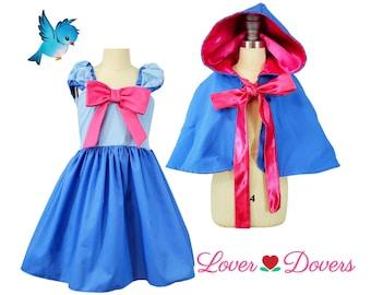 Fairy God Mother costume for girls , Cinderella Fairy God Mother dress, Fairy Godmother cape and apron, Cinderella Halloween costume