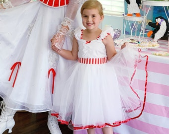 MARY POPPINS dress, Mary Poppins costume, girls costume,  tea party dress