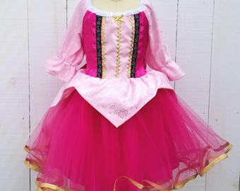 Sleeping Beauty dress, princess dress, Aurora dress, winter princess dress, pink princess dress, comfortable princess dress, Holiday dress