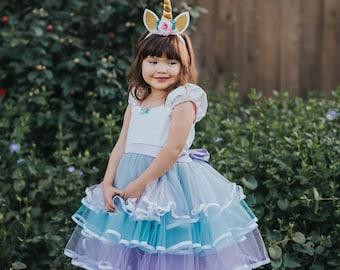 UNICORN dress girls, UNICORN costume, Unicorn party dress, tulle dress girls, unicorn party, girls tulle dress, dress size 10/12