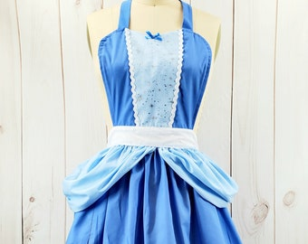 CINDERELLA APRON, womens Cinderella costume apron, Princess costume apron, running costume, womens full Apron, handsome by Lover Dovers