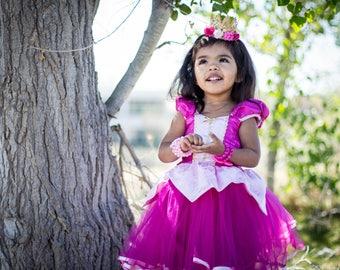 Sleeping Beauty dress, Princess Aurora dress, Princess dress, Aurora costume, satin dress, pink dress
