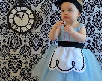 ALICE IN WONDERLAND dress, Alice in wonderland costume,  baby 1st  birthday outfit, Alice in Wonderland Dress, Alice Dress, handmade dress