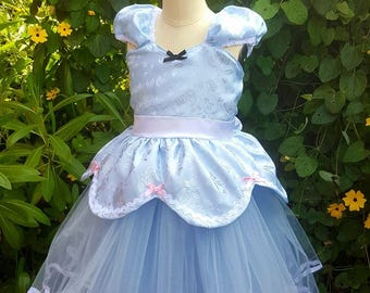 CINDERELLA dress, Princess dress, Cinderella costume, Cinderella TUTU dress, Cinderella party dress toddler girl costume Cinderella birthday
