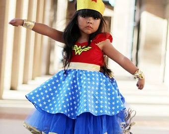 Wonder Woman dress girls Wonder Woman costume super hero costume  toddler girls costume Halloween costume wonder Woman tutu dress  sc 1 st  Etsy & Wonder woman costume | Etsy