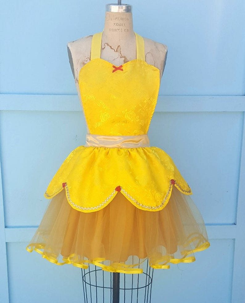 d0c29d1ba99 Belle Kostüm Schürze Prinzessin Kostüm Schürze Belle Tutu