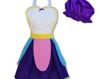 Mrs Potts costume apron, Mrs Potts Apron, Beauty and the Beast costume, Mrs Potts womens costume apron
