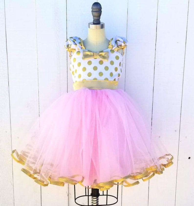d1d7150472bfec Rosa und Gold-Geburtstag-Kleid MINNIE MOUSE Kleid rosa | Etsy