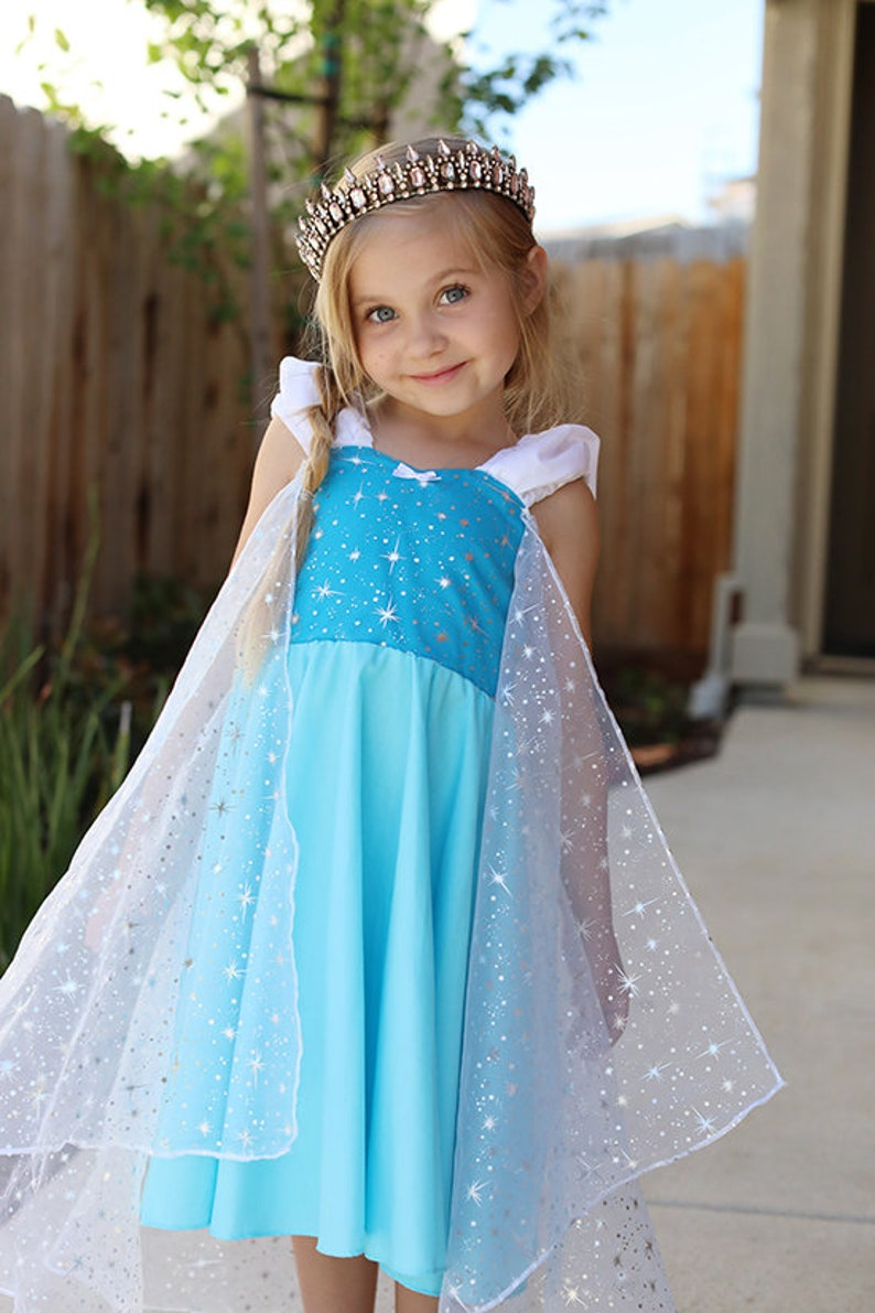 Frozen party Elsa costume princess dress handmade dress Frozen birthday party dress Elsa dress
