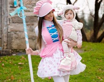 Bo Peep costume apron  for women, Bo Peep Bonnet, womens costume apron, Bo Peep dress up apron, Toy Story costume
