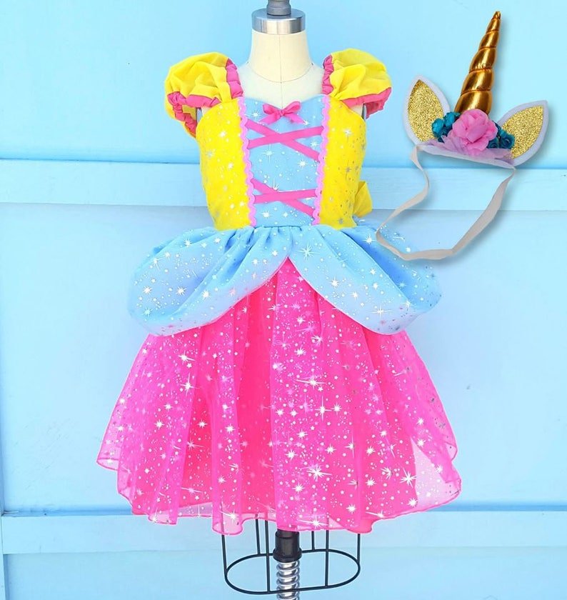 da4ef8cd88a5 UNICORN dress girls UNICORN costume baby Unicorn princess | Etsy