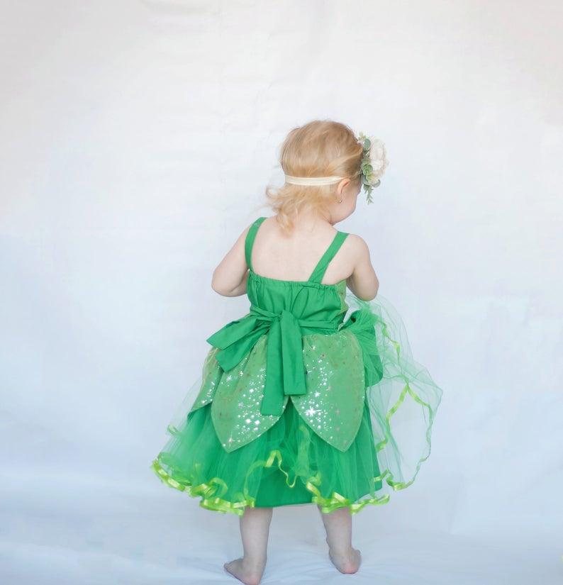 Fairy costume girls costume Tinkerbell dress Tinkerbell tutu Tinkerbell party dress Tinkerbell costume fairy dress Halloween Costume