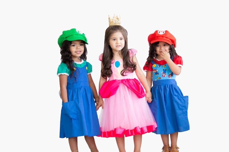 High Quality Princess Peach Costume Girls Super Mario Costume Princess | Etsy