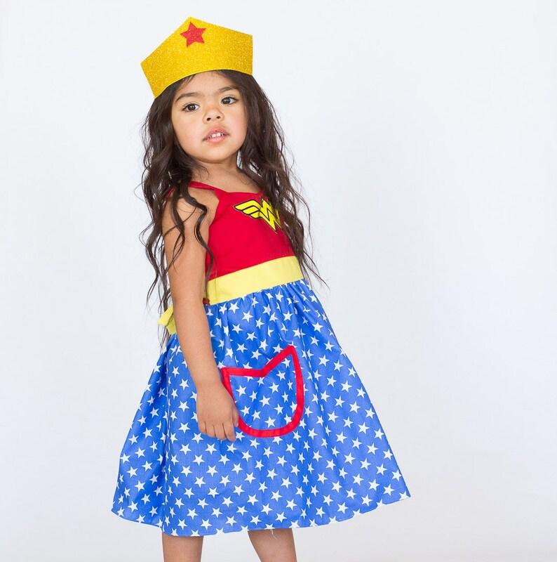 Wonder Woman Costume, Wonder Woman Dress, Wonder Woman Costume Girls, Super  Hero Costume , Toddler Girls Costume, Halloween Costume Girls