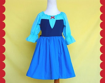 ARIEL costume, Kiss the Girl dress, Ariel dress, mermaid dress, Ariel costume girls, Ariel costume toddler, Lover Dovers, practical princess