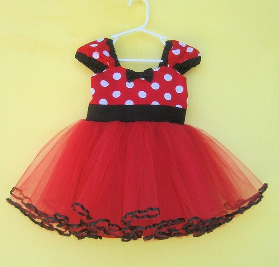 MINNIE MOUSE dress Minnie Mouse birthday outfit Minnie Mouse | Etsy