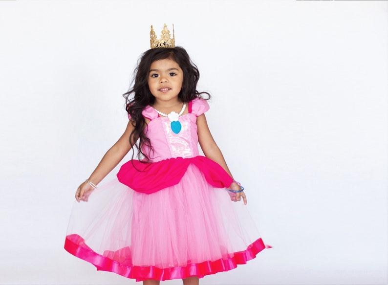 4e3229135c32 Princess Peach costume girls Super Mario costume Princess | Etsy