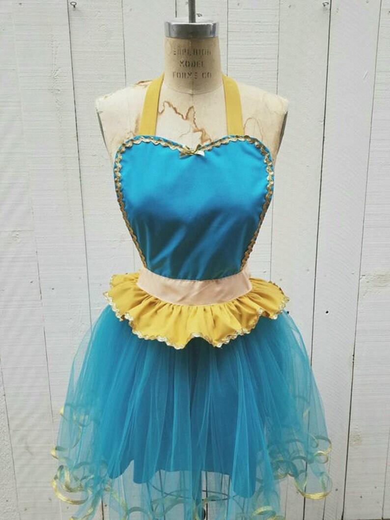 Princess Jasmine Costume apron Princess running costume apron costume apron womens Jasmine tutu Jasmine Running Costume apron