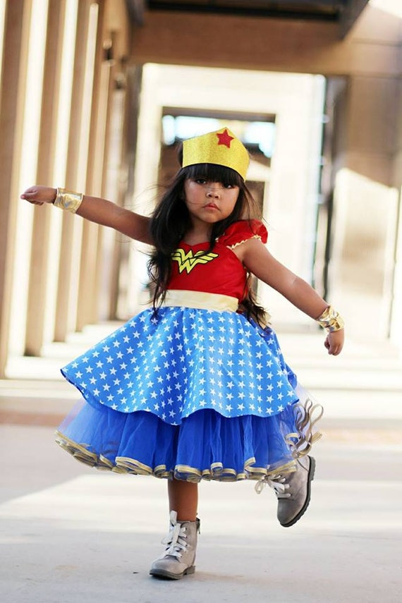 Wonder Woman Girls Halloween Superhero Costume