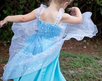 Elsa dress, Elsa costume, Frozen party,  princess dress, Frozen birthday party dress, handmade dress