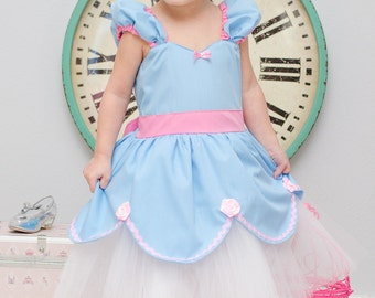 CINDERELLA dress blue and pink  tutu dress Princess dress from Lover Dovers handmade costume Practical princess dress