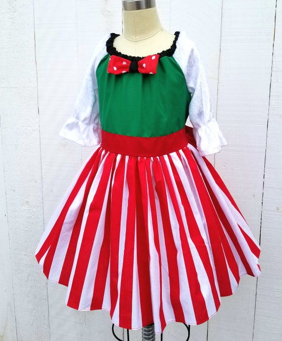 image 0 - Christmas Dress Minnie Mouse Dress Minnie Mouse Christmas Etsy