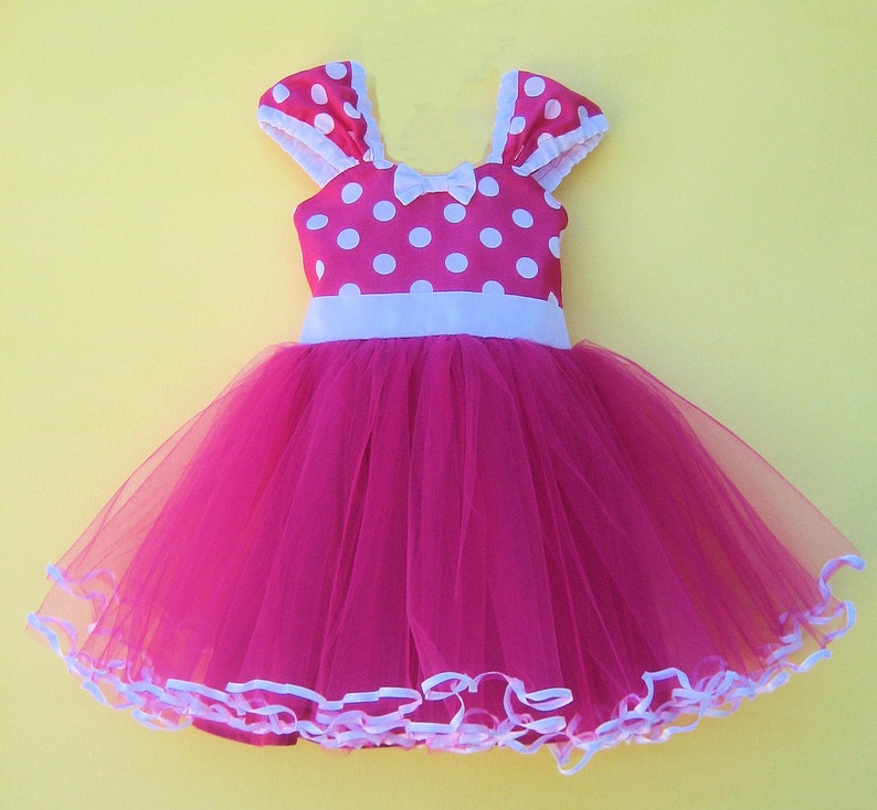 7af5e3882 MINNIE MOUSE dress pink Minnie Mouse dress fuchsia Minnie | Etsy