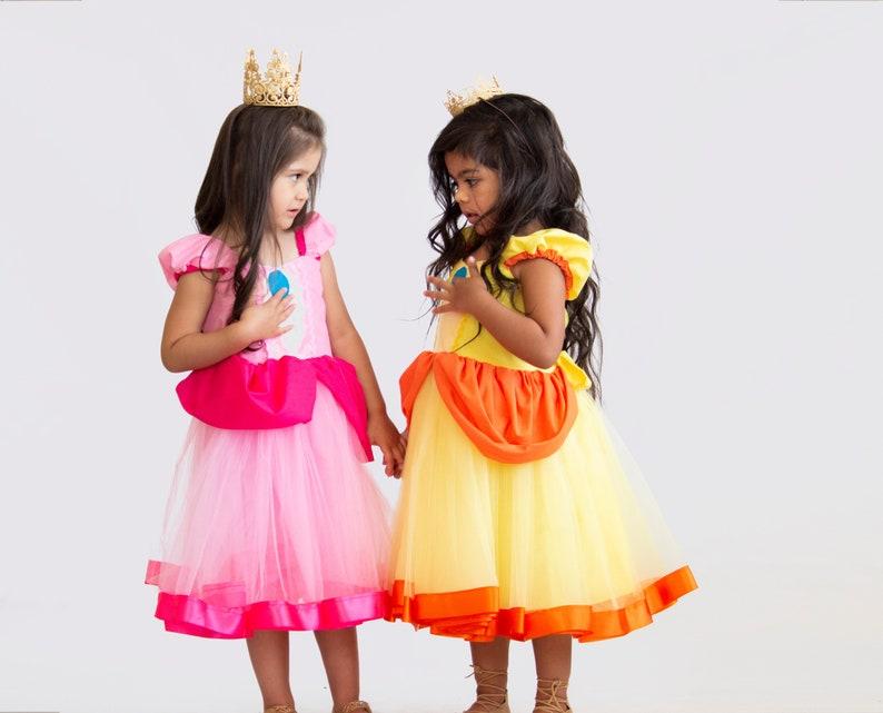 Princess Peach Costume Girls Super Mario Costume Princess | Etsy