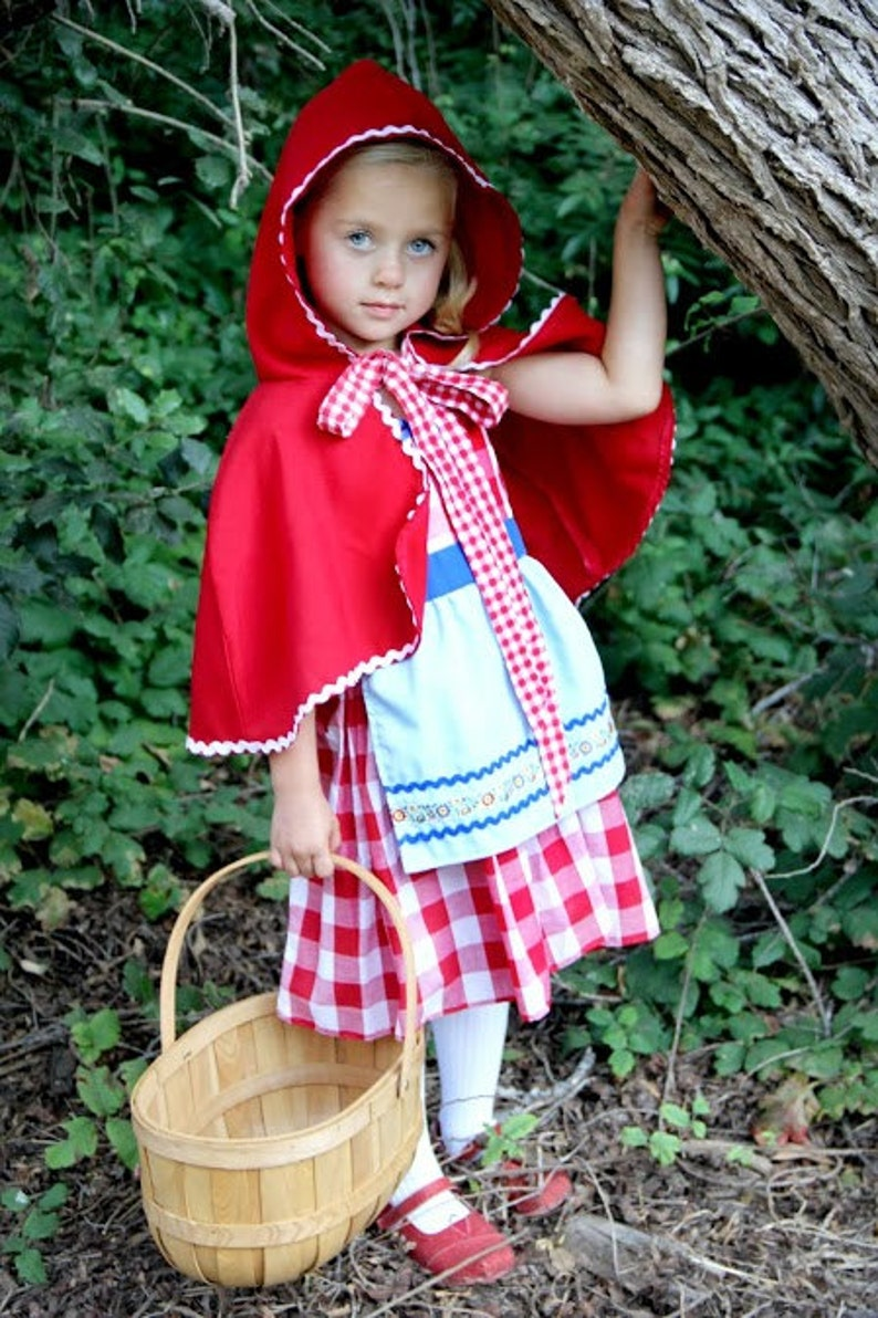 214f3393ec9 Red Riding hood costume, red cape, Little Red Riding hood costume, toddler  girls Halloween costume, girls costume, comfortable costume