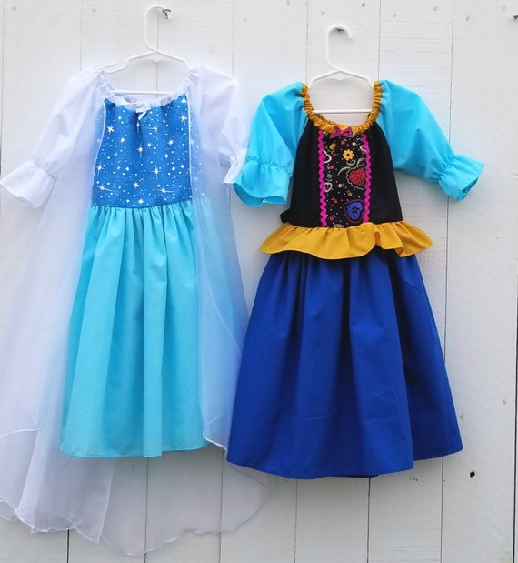 27220b162f25 Elsa dress Anna dress Frozen dress set princess dress | Etsy