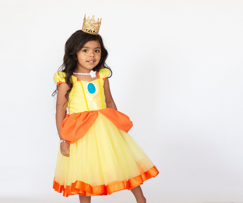 0ab9481f69237 Princess Daisy costume girls Super Mario costume Princess